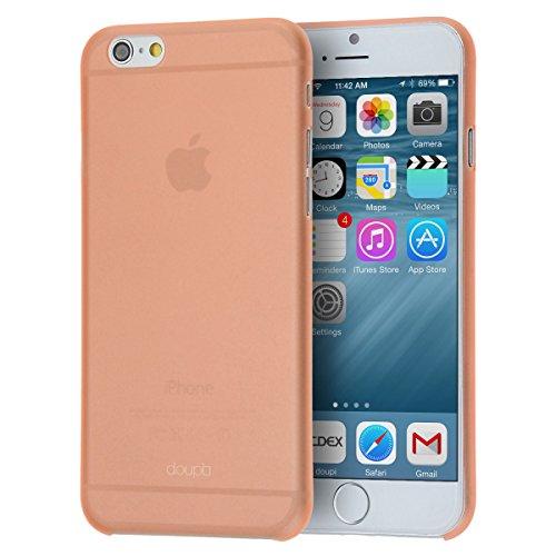 doupi UltraSlim Funda para iPhone 6 6S (4,7 Pulgadas), Finamente Estera Ligero Estuche Protección, Naranja