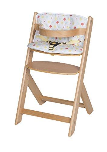 Schardt 01 126 00 01 1/746 Domino III chaise haute hêtre avec coussin d'assise maliz, massif laqué naturel