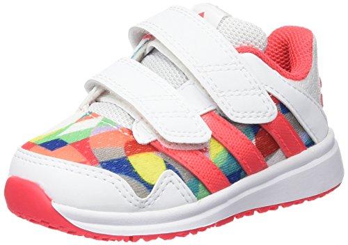 adidas Snice 4 CF I, Zapatos (1-10 Meses) Unisex bebé, Blanco/Rojo (Ftwbla/Rojimp/Ftwbla), 25 EU
