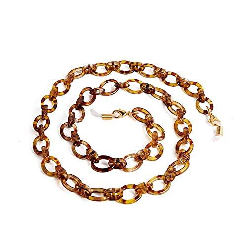 Lanyards Cadena de leopardo caliente para gafas mujeres hombres gafas de sol acrílico cadenas cordón de lectura gafas de sol cordón correa de cuello cuerda