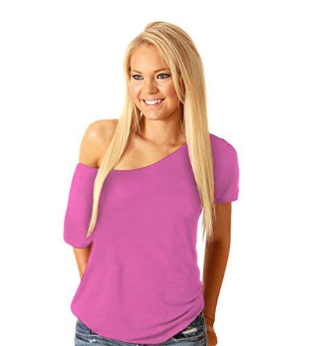 Ayah – Camiseta Casual Suelta para Mujer, Ots, Rosado, X-Large