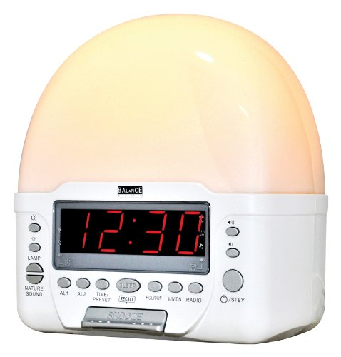 Balance HE-DW11 wandklok, draagbare radio, wit, 190 mm, 125 mm, 960 g, LED)