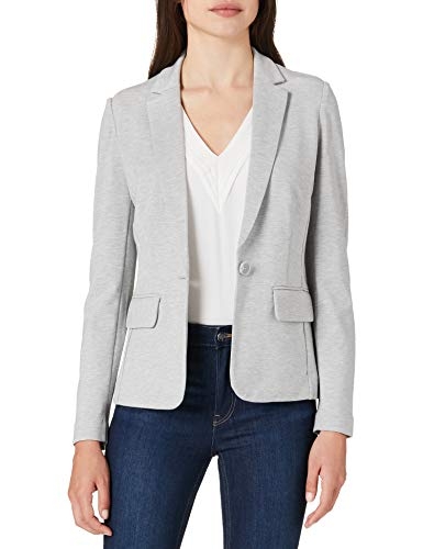 TOM TAILOR Damen 1024520 Jersey Blazer, 11282-Silver Grey Melangé, M