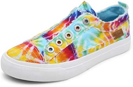 Blowfish Malibu womens Play fashion sneakers Rainbow Tie dye Canvas 7 5 US product image