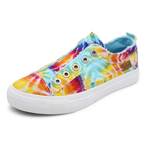Blowfish Malibu womens Play Sneaker, Rainbow Tie Dye, 7 US