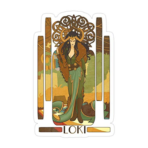 Lady Loki gestanzte Aufkleber für Laptop, Fenster, Auto, Stoßstange, Helm, Wasserflasche