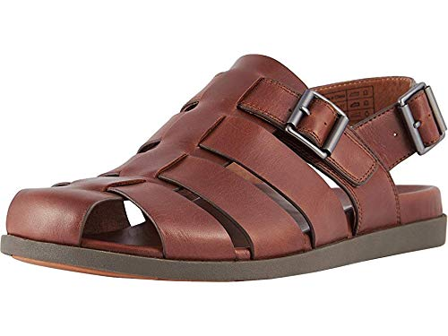 Vionic Men's Ludlow Gil Fisherman Sandal - with Concealed Orthotic Arch Support Brown 8 M US