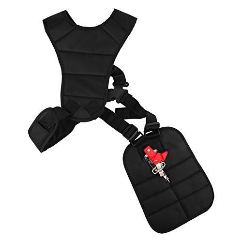 Fdit Black Comfort Padded Belt Double Shoulder Strap, Trimmer Shoulder Strap for Trimmers Brushcutters Strimmer Harness, Garden Brush Cutter Lawn Mower Nylon Belt fit for Brush Cutter Trimmer Kit
