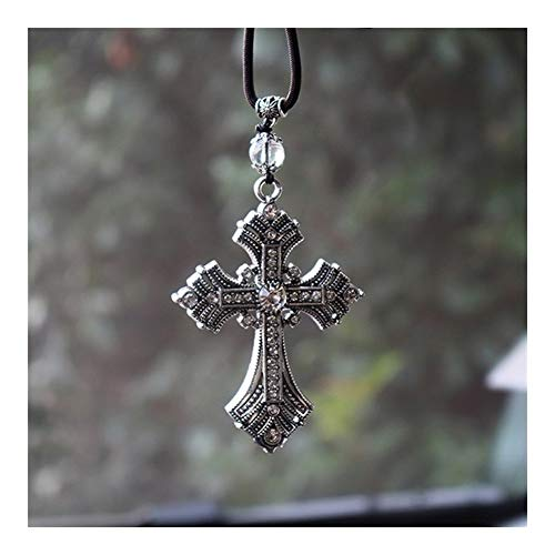 YUNGYE Car Rearview Mirror Pendant In Car Hanging Accessories Auto Metal Crystal Cross Jesus Christian Car Decor Ornaments Car Pendants Religious Gift (Color Name : NO.1)