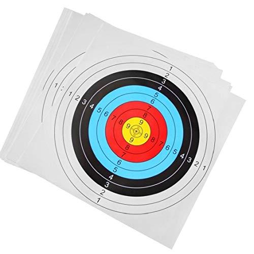 Papeles Tiro a La Diana Flechas Disparadas Objetivo para El Arco Flecha Dardo Al Aire Libre Precisión Cubierta Formación 30pcs