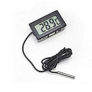NLLeZ 1PC LCD Digital Screen Précision Réfrigérateur Thermomètre Réglable Stand Aimant Imperméable Réfrigérateur Digital Congélateur Chaud (Couleur : Black 1M)