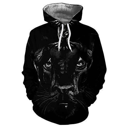 Tzzdwy Patroon Sweatshirt Lente en Herfst Hoodie Losse 3D Hoodie Zwarte Panter Print Mannen en vrouwen hooded sweater