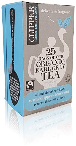 Clipper Fairtrade Organic Earl Grey - Juego de 25 bolsitas de te de una taza, color gris