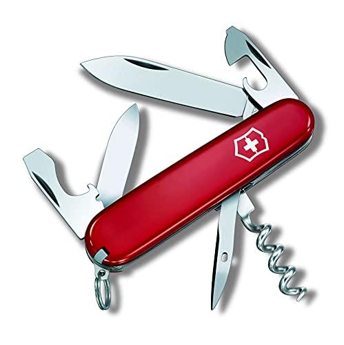 Victorinox Tourist Couteau de Poche Suisse, Léger, Multitool, 12 Fonctions, Ouvre Boite, Tire Bouchon, Rouge