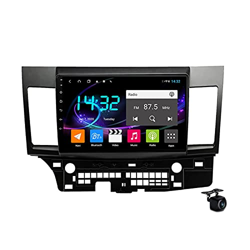 Coche estéreo Android 10.0 Radio SAT NAV para Mitsubishi Lancer 2007-2017 GPS Navigation 10 '' Pantalla táctil IPS 2 DIN Multimedia Video Player FM Receptor con 4G 5G WiFi SWC Carplay,M300s