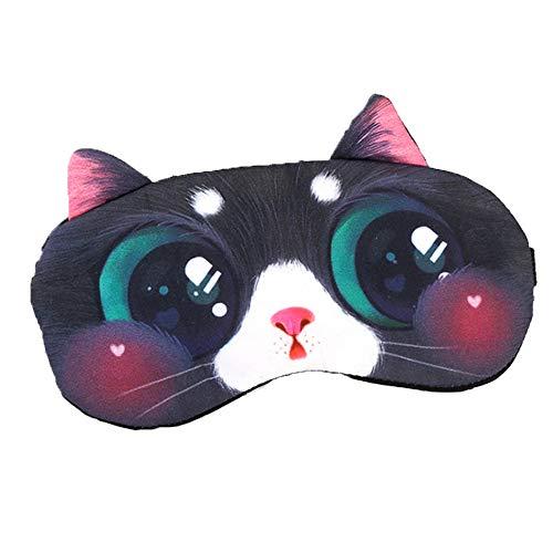 Süße Schlafmaske, Schlafmaske für Mädchen und Jungen, Augenmaske zum Schlafen, elastisches Haarband, weich und leicht für Schlaflosigkeit, geschwollene Augen, inklusive Eisbeutel