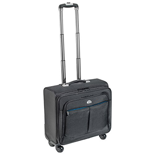 PEDEA business trolley 'Premium' rolling case for laptops up to 17.3 inches (43.9 cm) with overnight compartment, black