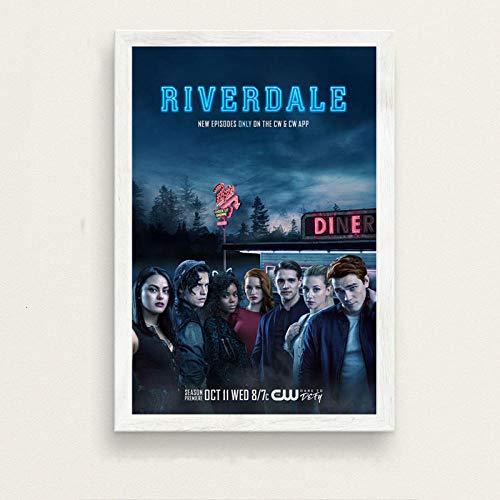 Flduod Film Geschenk River Season 3 TV-Serie Show Art Poster druckt Licht Leinwand Wandmalerei Bild für Raum Home Decor-No Frame 40x50cm