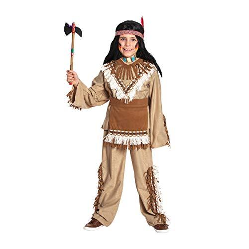Kostümplanet® Indianer-Kostüm Kinder Junge Faschingskostüme Jungen Kind Verkleidung Karneval Kinder-Kostüme Fasching Outfit Indianerkostüme Größe 128