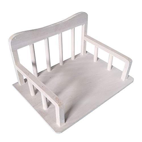 Verloco baby klein bed van hout, foto-accessoires voor pasgeborenen neem een foto Studio en thuis op, afneembaar - gemakkelijk te transporteren, glad oppervlak, geurloos, 34 x 39 x 22 cm
