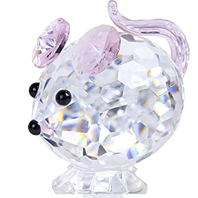 Crystal Mouse Figurines Collectibles-Glass Animals Figurine Home Decor