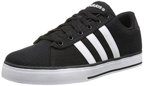 adidas NEO Mens SE Daily Vulc Lifestyle Skateboarding Shoe,Black/White/Black,10 M US