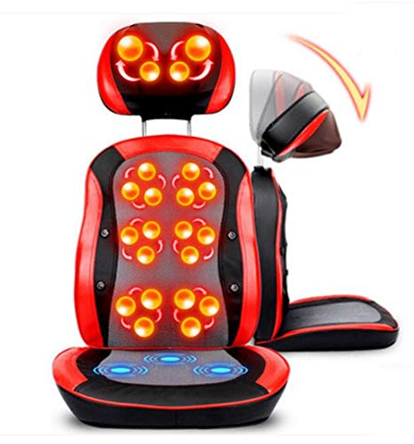 Best Prices! Lzour Multi-Function Electric Massage Chair 3D Massage Ball kneading Infrared Therapy Free Adjustment Magnet Treatment Heating for The Part