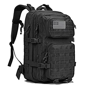 Dunnta Tactical Backpack 3 Day Assault Pack Molle Bug Out Bag 42L Military Backpack for Hiking Camping Trekking Hunting Black