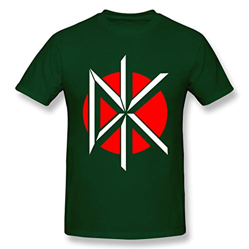 Dead Kennedys Logo Men's Basic Short Sleeve T-Shirt Fashion Printed Casual Short Sleeve Cotton Forest Green 6XL
