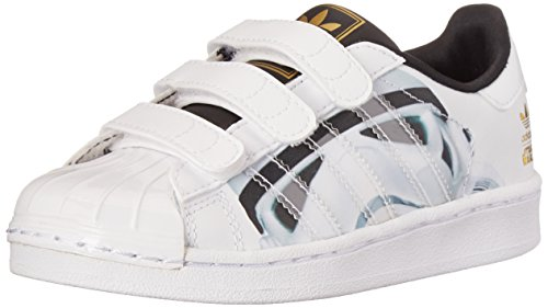 adidas Originals Unisex-Baby Superstar Star Wars Zapatos, blanco (blanco/blanco/negro ), 28 EU