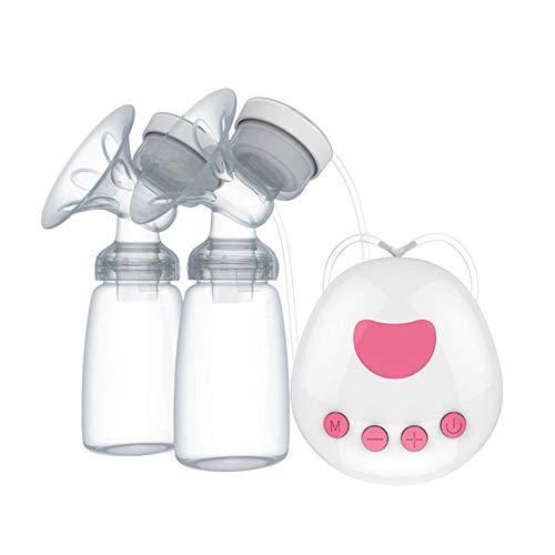 Pompe à Lait électrique Portable à Double Usage Batterie bébé Pompe à Lait avec Massage réglable, système Anti refoulements