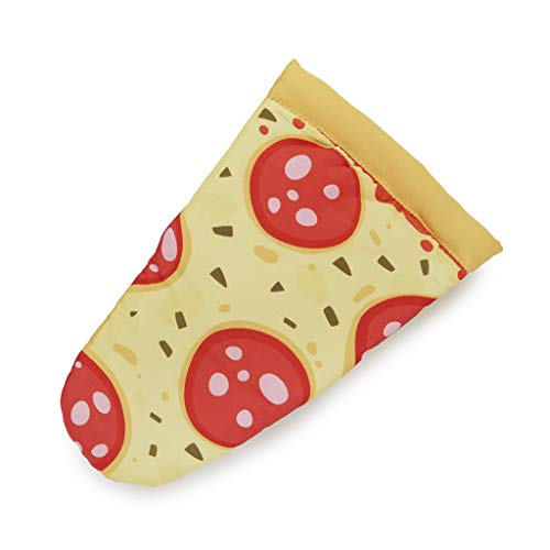 Balvi Manopla Cocina y Horno Pepperoni Pizza En Forma de porción de Pizza Resistente al Calor 250ºC Poliéster/Silicona