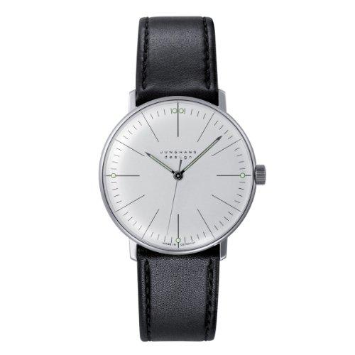 Junghans MAX Bill 027/3700.00 - Reloj de Caballero automático, Correa de Piel Color Negro