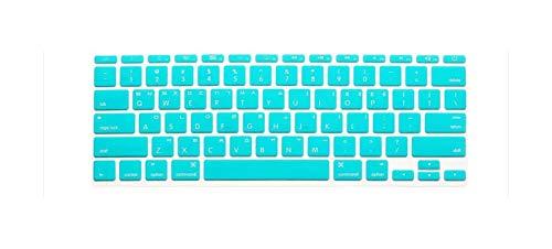 Silicone Skin Korean Keyboard Cover Protector Korea Language Keyboard Cover For MacBook Air 11' 11.6 Inch For Mac A1370 A1465-whiteblue-