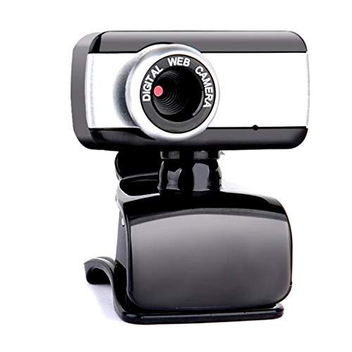 Borlai Web Cam con micrófono 480P Cámara Web Portátil Webcam Clip USB 2.0 para PC Laptop Ordenador