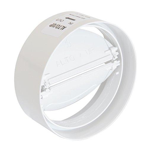 La ventilación cvl100b Junta de ABS con válvula de mariposa anti-retorno, diámetro 100mm
