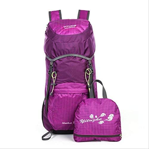 Generic Brands Sac à dos de voyage léger et portable pour voyage, léger et durable, 40 L, étanche pour randonnée, camping, alpinisme 30 - 40L violet