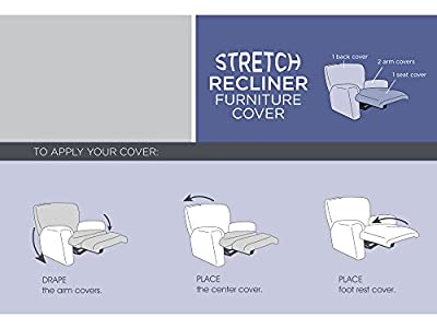 Maytex Stretch Reeves 4-Piece Recliner Slipcover