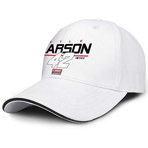 gfhfdjhf Unisex Women's Flatbrim Baseball Cap Kyle-larson-number-42-driver-target-racing- Athletic Wash All Cotton Adult Cap DIY 23414