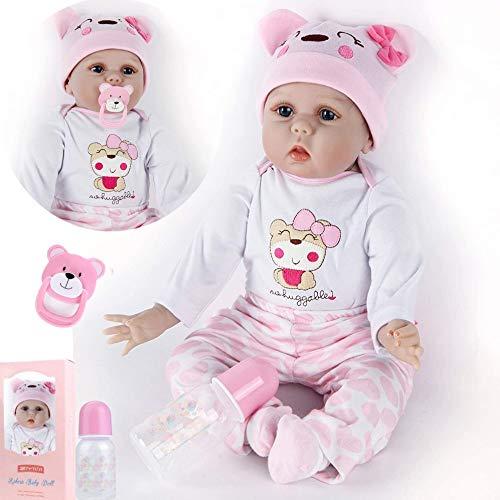 ZIYIUI Bambola Reborn 22 Pollici 55 Cm Realistico Bambole Reborn Morbido Silicone Vinilico Reborn Dolls Giocattoli