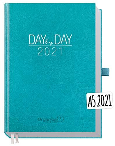 Chäff Organizer Day by Day 2021 A5 [Petrol] 1 Tag pro Seite   Hardcover Kalender 2021, Tagesplaner, Terminkalender, Terminplaner, Tageskalender   nachhaltig & klimaneutral