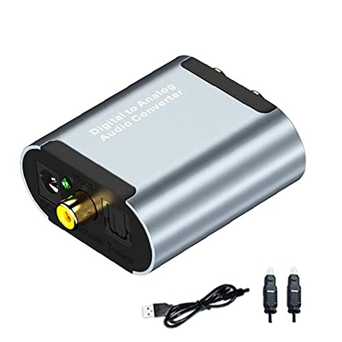 Tuimiyisou Toslink óptico Digital a analógico convertidor de Audio a RCA L/R...