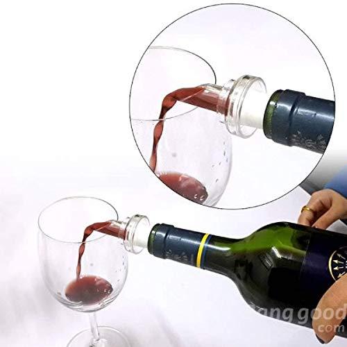 Tapón de botella de vino tinto blanco aireador de vino tinto vertedor tapón de botella de aireación decantador con tapón de silicona para bebidas de expansión reutilizable