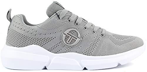 Sergio Tacchini 117020 Chaussures de sport légères et confortables en tissu - Gris - gris, 37 EU EU