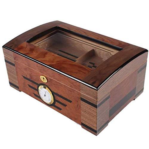 ADSE Caja de Almacenamiento de higrómetro y humidificador - Maleta de Caja de Puros extraíble portátil Universal