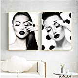 AdoDecor Fashion Model Girl Wanddekoration Poster und