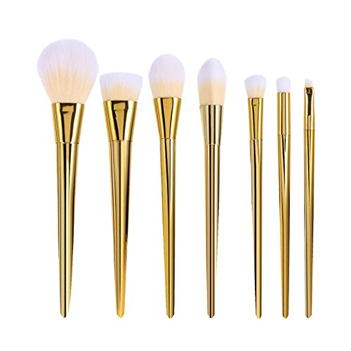 King Love Star 7 pièces/ensemble Pinceau de maquillage Plastique métallique de brosses de maquillage Fondation Le fard à paupières Correcteur Cheveux en fibre Pinceau de maquillage