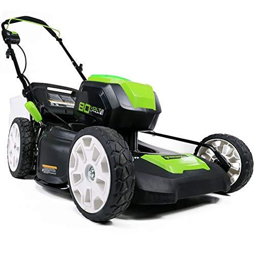BZZBZZ Elektrische Rasenmaschine, wiederaufladbarer 80-V-Rasenmäher mit 7 Geschwindigkeiten, einstellbar für den Golfplatz Courtyard Garden Park