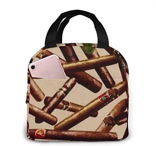 Bolsa de almuerzo con diseño de cigarros para mujeres,niñas,niños,bolsa de picnic aislada,bolsa gourmet,enfriador,bolsa cálida para trabajo escolar,oficina,camping,viajes,pesca