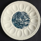 Currier and Ives Blue Deviled Egg Plate by Royal (USA) | Replacements, Ltd.